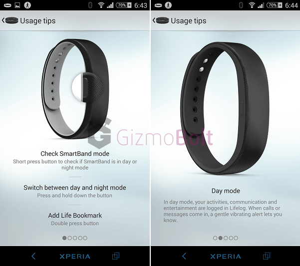 How to use SmartBand SWR10 app