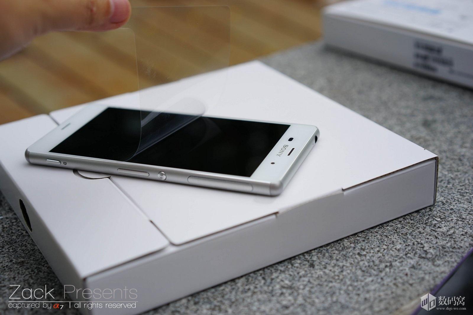 White Xperia Z3 unboxing
