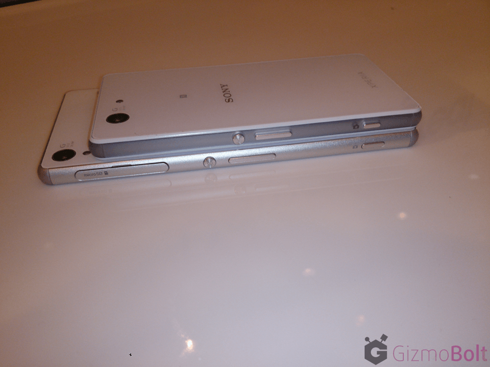 Elegant White Xperia Z3 compact hands on
