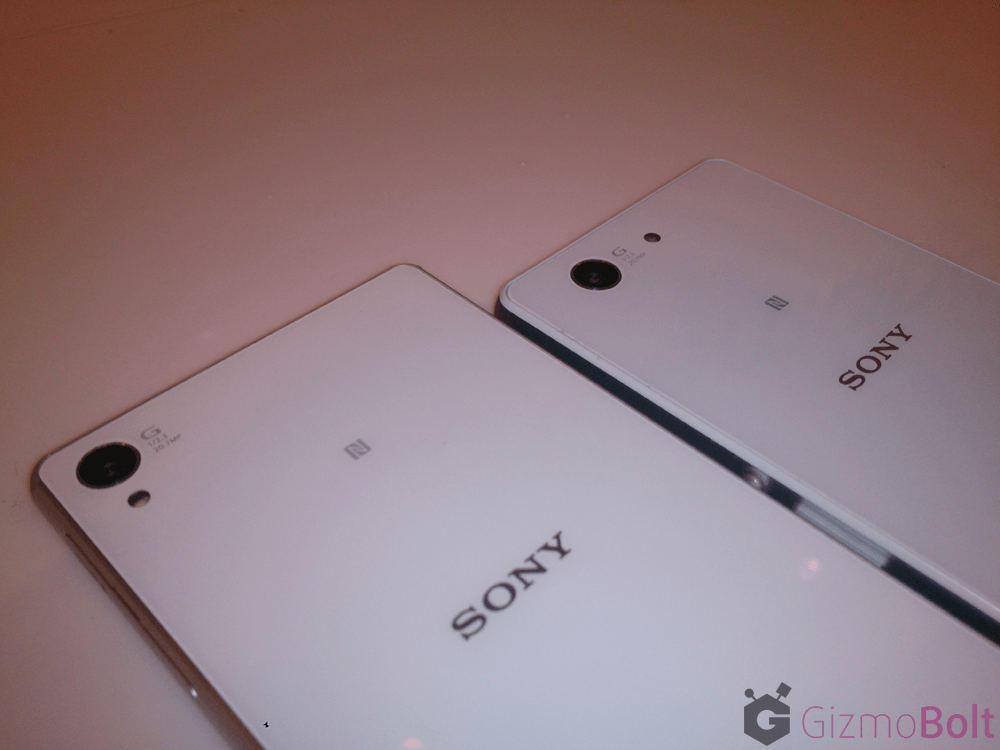 20.7 MP rear camera comparison Xperia Z3 vs Z3 Compact