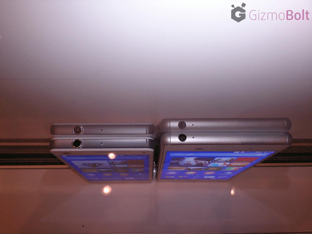 Xperia Z3 vs Z3 Compact Size comparison