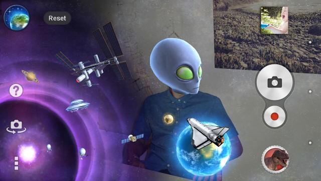 AR Effect app Sony Space theme