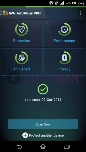 AVG AntiVirus PRO for Xperia