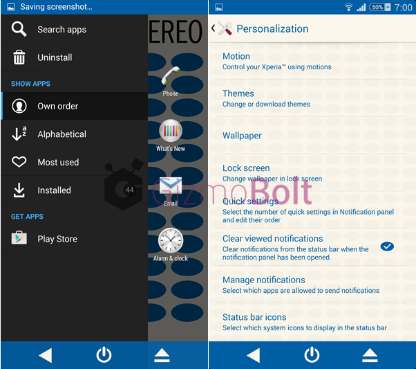 Download Xperia Blue Note Vinyl theme