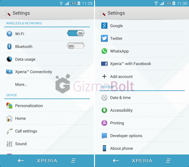 Download Xperia MateriaL theme