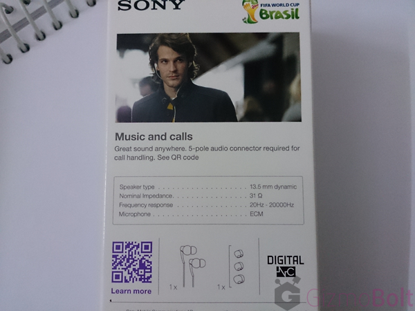 Sony MDR-NC31EM specifications