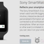 Sony SmartWatch 3 listed for $249.99 at Play Store – Coming Soon
