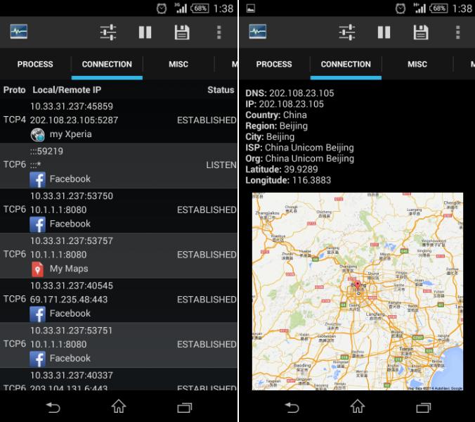 Sony sending data to chinese servers via myXperia app