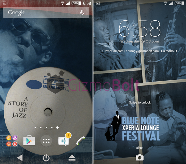 Xperia Blue Note Story theme