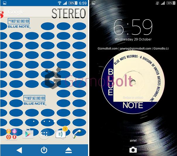 Xperia Blue Note Vinyl theme