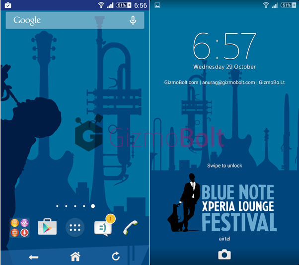 Xperia Blue Note theme
