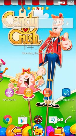 Xperia Theme Candy Crush