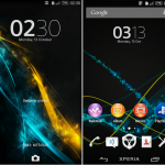 Install eXperiance Xperia Theme Ice Line