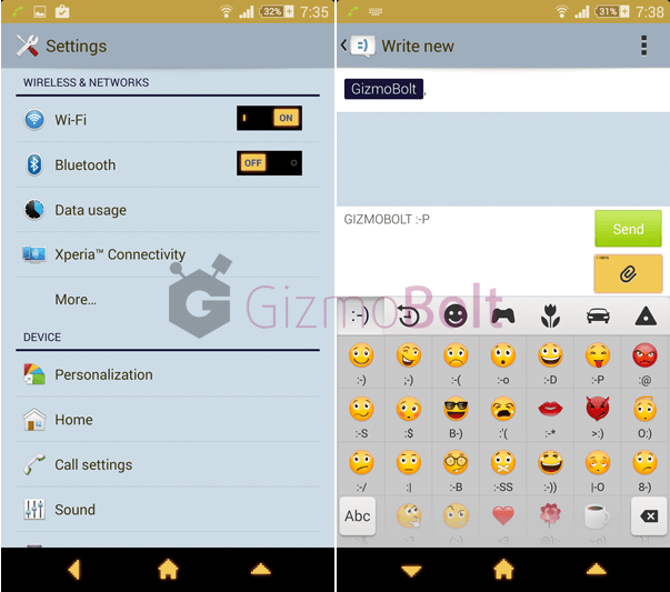 Xperia Who Am I Theme UI