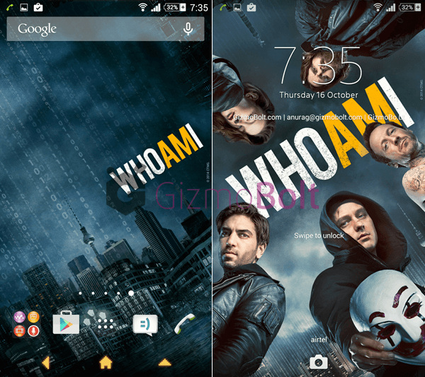 Xperia Who Am I Theme