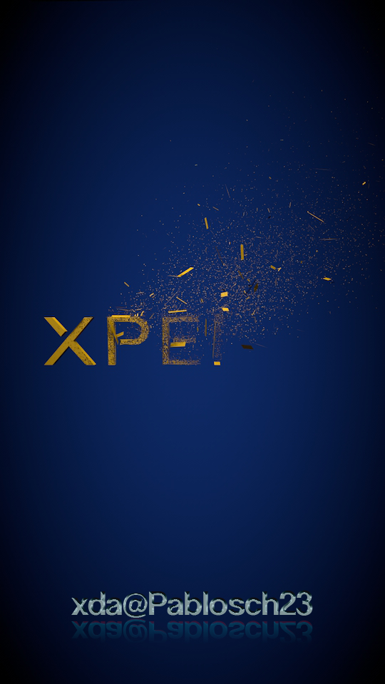 Yellow Xparticles text transition boot animation