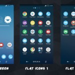 Pure Xperia Blue Flat Theme with Flat Icons Pack