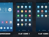 Pure Xperia Blue Flat Theme