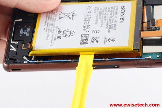 Remove Xperia Z3 3100 mAH battery