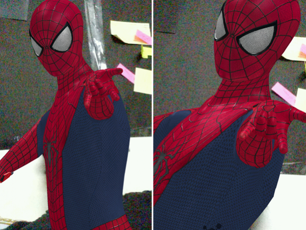 Amazing Spider-Man 2 AR effect camera app for Xperia Z2