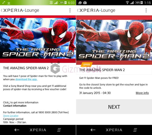 Amazing Spider-Man 2 AR effect camera app