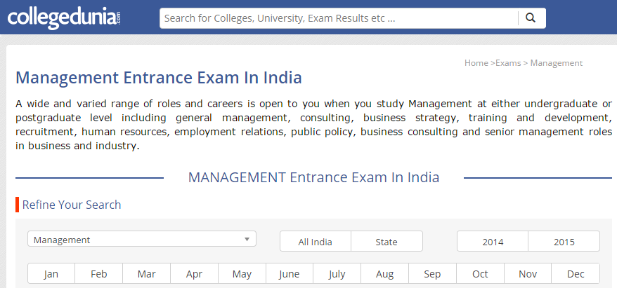 College Dunia MBA colleges