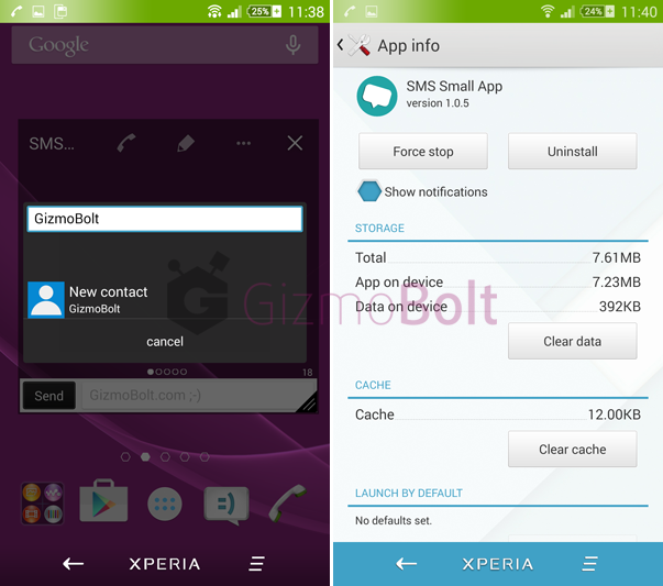 Download SMS Small app version 1.0.5