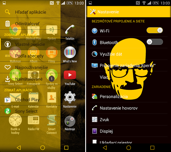 Download Xperia Breaking Bad Theme