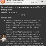 Sony Movies 8.0.A.0.6 app updated over 8.0.A.0.4 version