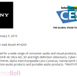 Sony CES 2015 Press Conference on January 5, 2015 at Las Vegas
