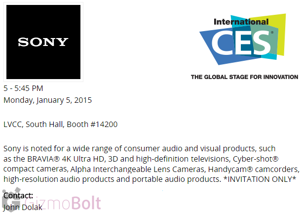 Sony CES 2015 Press Conference
