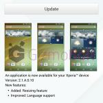 Sony Weather 2.1.A.0.10 app update rolling