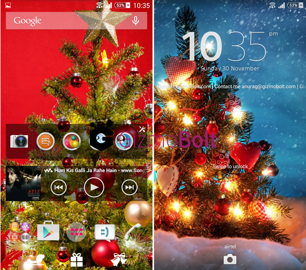 Xperia Christmas Theme