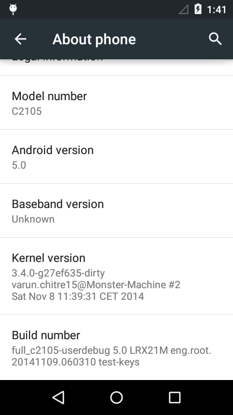 Xperia L Android 5.0 Lollipop AOSP ROM