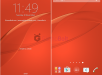 Xperia Style Cover Window Orange Theme