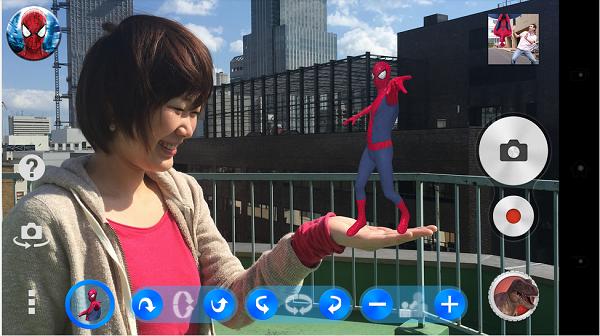 Xperia Z3 Sony Amazing Spider-Man 2 AR effect camera app