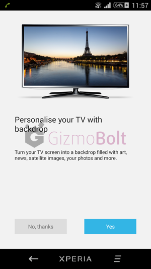 Xperia z2 Chromecast Screen casting support