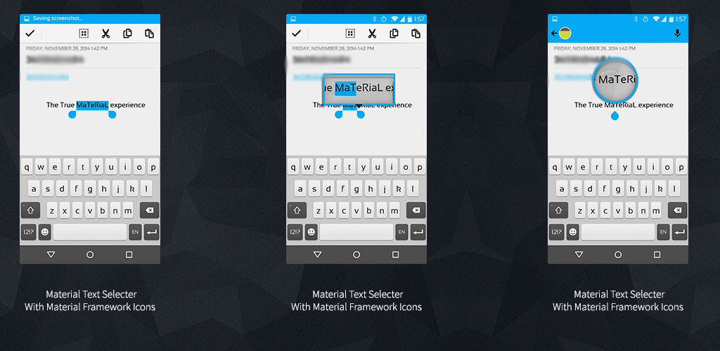 Download Xperia Blue Material Theme