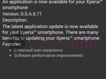 myXperia 0.0.A.0.71 update
