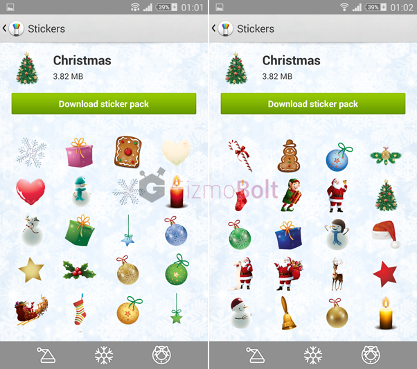 Christmas stickers for Sony Sketch app