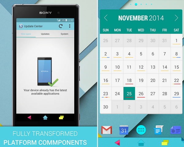 Download Xperia XP 5.0 Material Theme