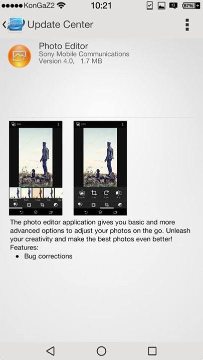 Sony Photo Editor 4.0 app