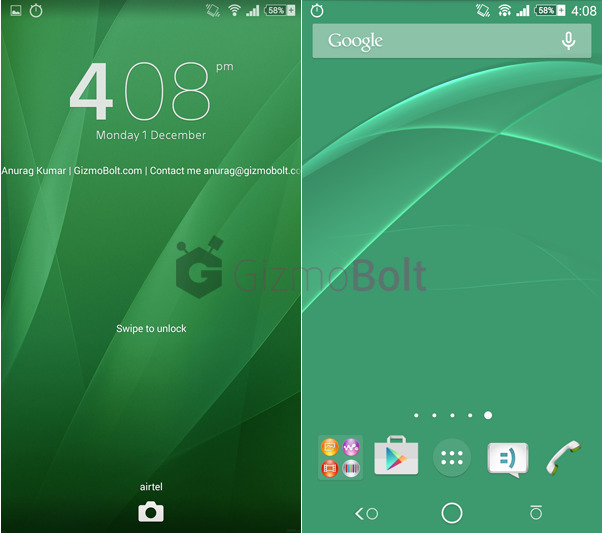 Xperia Green Art Theme