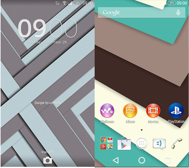 Xperia Theme Blue