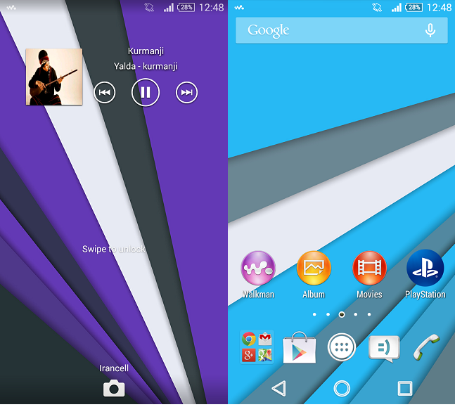 Xperia Theme Sky Blue