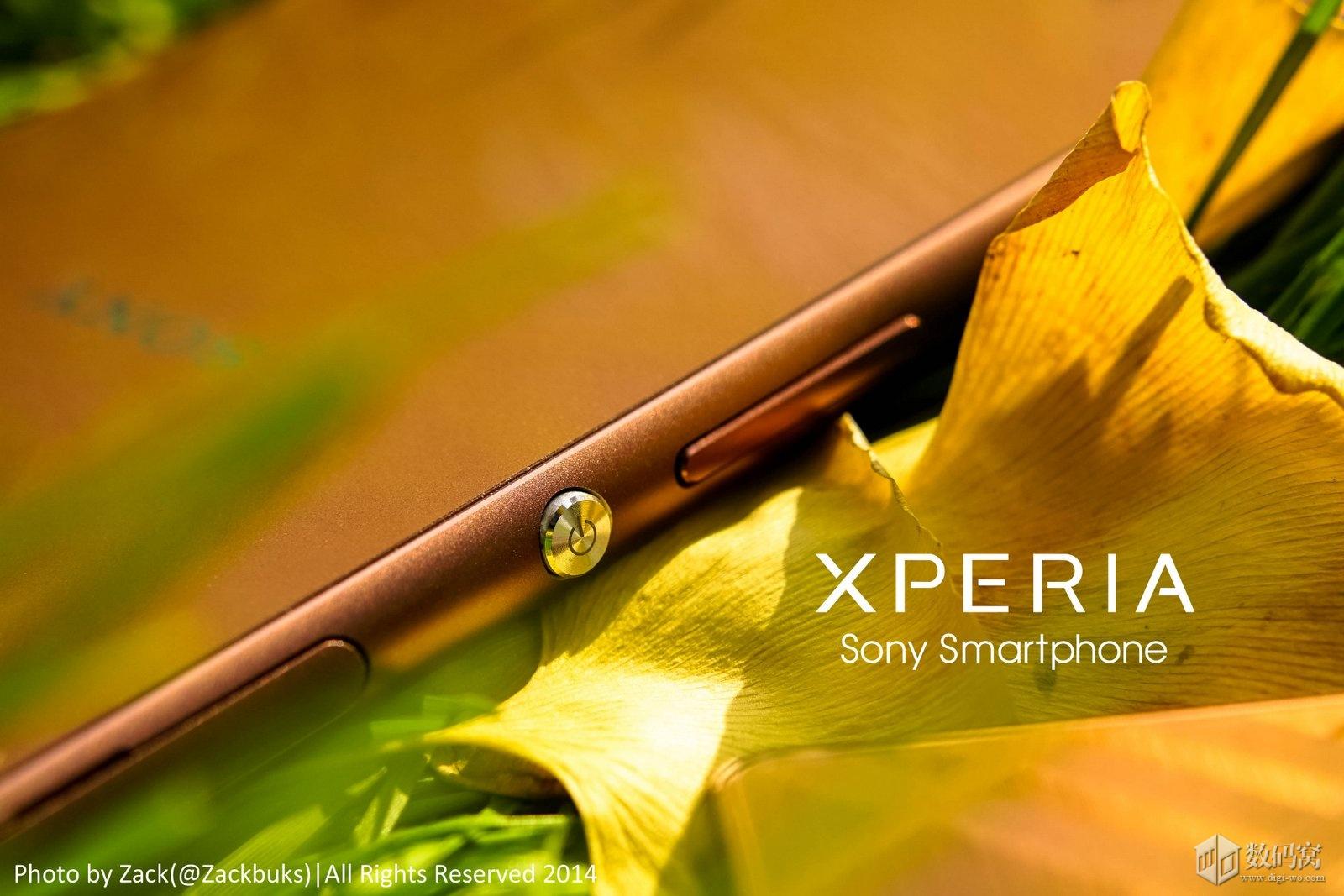 Copper colored Xperia Z3 in pic