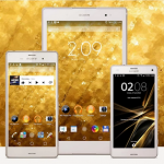 Get eXPERIAnZ Grey & Gold Theme for Xperia devices