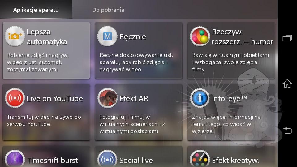 Xperia E4 Social Smart Camera App