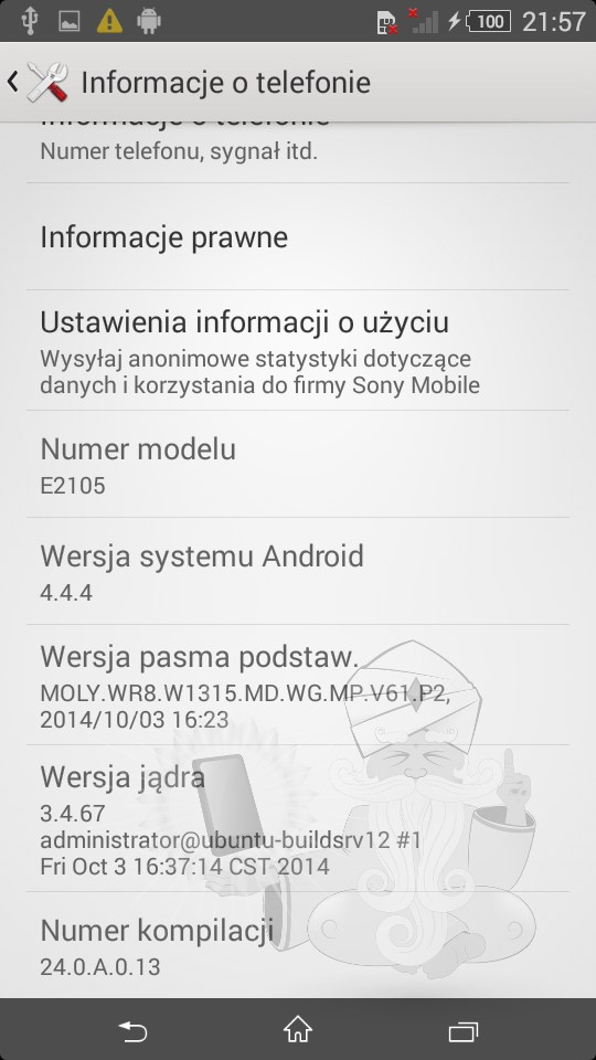 Xperia E4 24.0.A.0.13 firmware Android 4.4.4