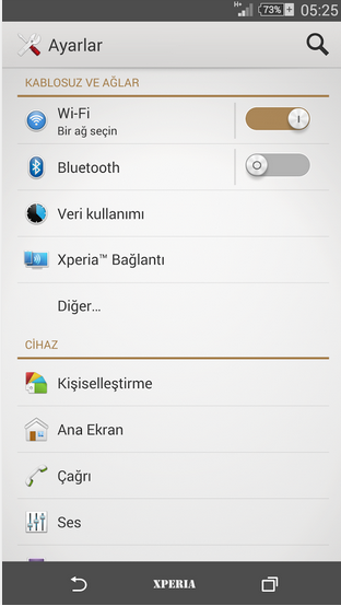 Download Xperia Brown Theme